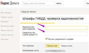 """Штрафы через """"Яндекс.Деньги"""""""