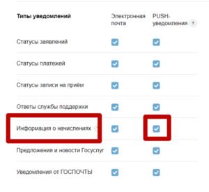 Активация функции push-уведомлений