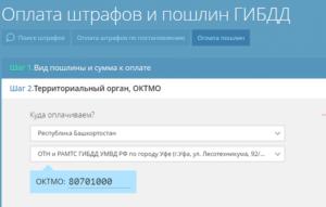 Указание региона и наименования инспекции ГИБДД