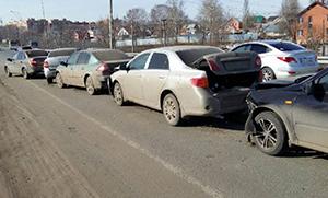 Столкновение более двух авто