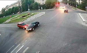 ДТП на неравнозначном перекрестке