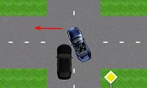 ДТП на нерегулируемом перекрестке при повороте и обгоне