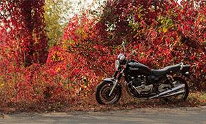 Мотоцикл осенью