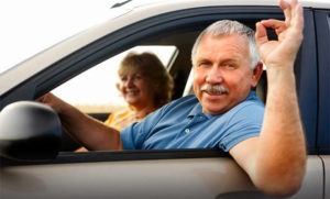Пенсионеры в авто