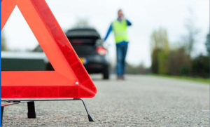 Выставить знак аварийной остановки