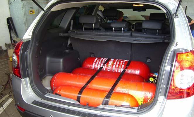 Перевозка газовых баллонов в легковом автомобиле