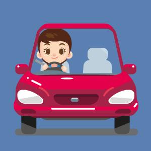 Автолюбитель за рулем