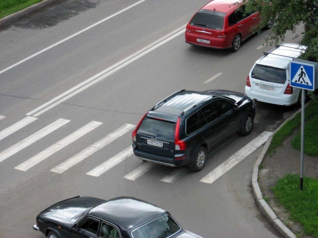 Размер штрафа за парковку на пешеходном переходе