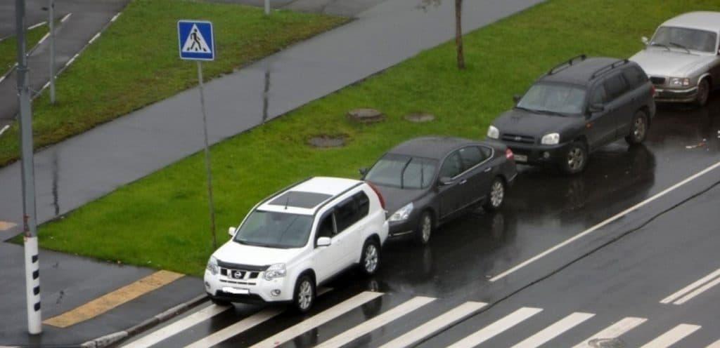 Правила остановки/стоянки возле пешеходного перехода